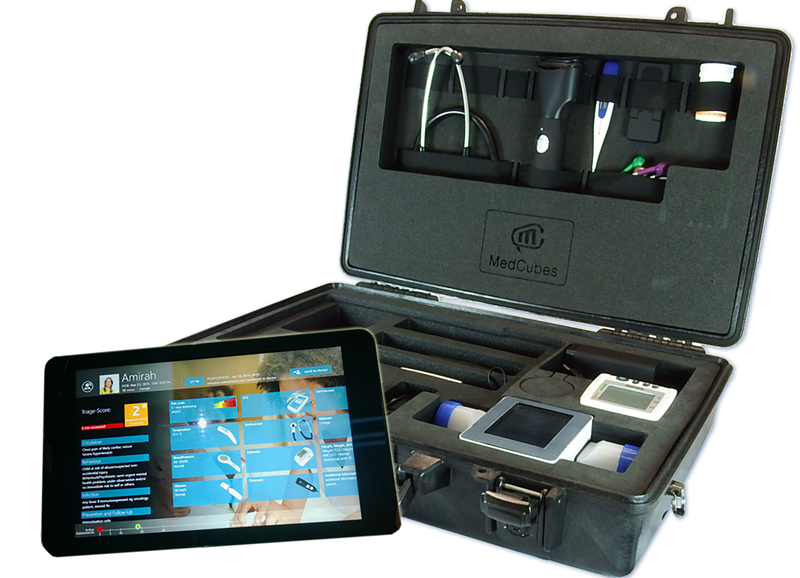 MedCubes RemoteCase und Windows Tablet